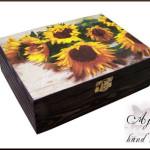 pudełko na herbatę słoneczniki