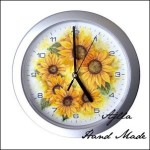 zegar słoneczniki