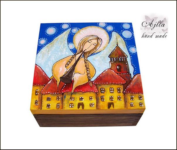 szkatułka z aniołem dzień matki