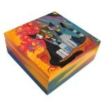 pudełko drewniane koty