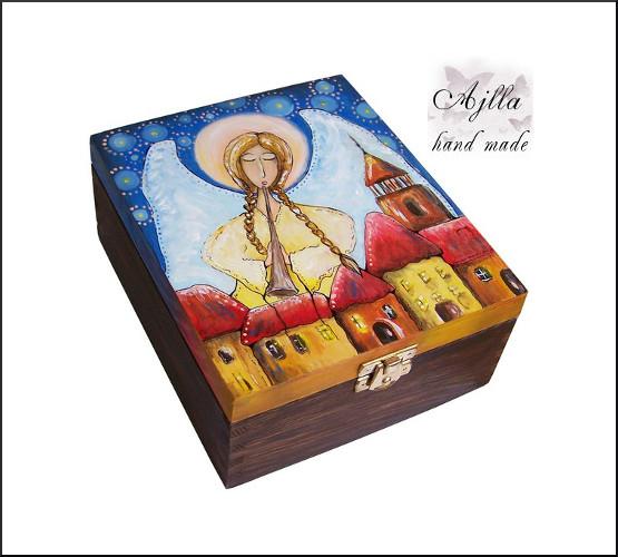 szkatułka z aniołem