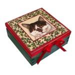 pudełko drewniane z kotem